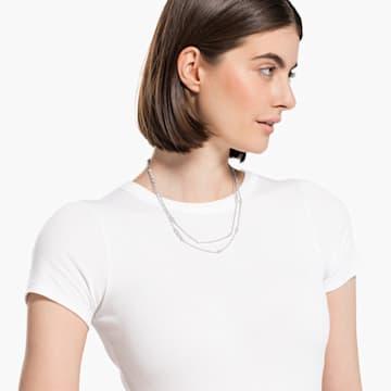 Collar Tennis Deluxe Mixed, blanco, baño de rodio - Swarovski, 5562083