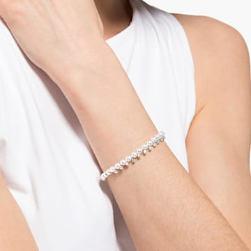 Treasure Pearl Bracelet, White, Rhodium plated - Swarovski, 5563291
