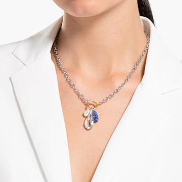 Collier The Elements, bleu, finition mix de métal - Swarovski, 5563511