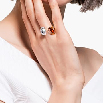 The Elements-ring, Rood, Gemengde metaalafwerking - Swarovski, 5563512