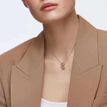 Přívěsek Twist Rows, fialový, pozlacený růžovým zlatem - Swarovski, 5563907