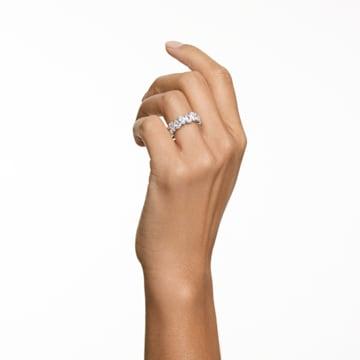 Inel Vittore Pear, alb, placat cu rodiu - Swarovski, 5563966