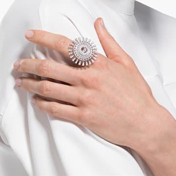 Pierścionek Swarovski Sparkling Dance Dial Up, biały, powlekany rodem - Swarovski, 5564427