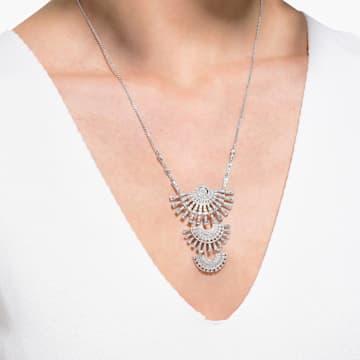 Swarovski Sparkling Dance Dial Up Halskette, groß, weiss, rhodiniert - Swarovski, 5564432