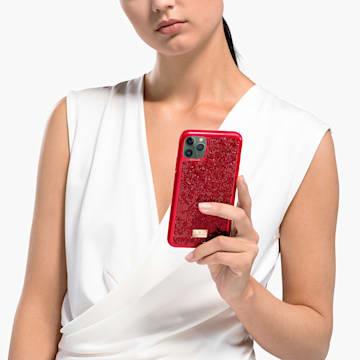 Glam Rock smartphone hoesje, iPhone® 12/12 Pro, rood - Swarovski, 5565182
