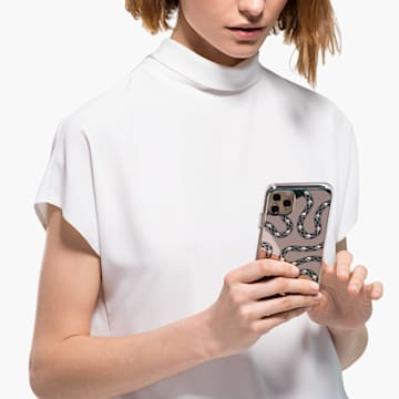 Theatrical Smartphone Case with Bumper, iPhone® 11 Pro Max, Green - Swarovski, 5565201