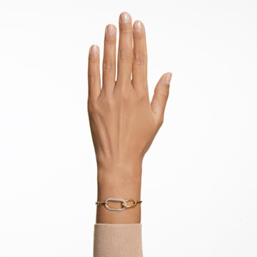 Time 手鏈, 白色, 多種金屬潤飾 - Swarovski, 5566003