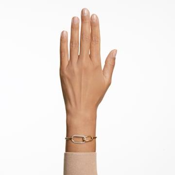 Time-armband, Wit, Gemengde metaalafwerking - Swarovski, 5566003