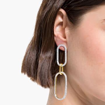 Boucles d'oreilles Time, blanc, finition mix de métal - Swarovski, 5566004