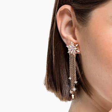 Boucles d'oreilles Magic, blanc, métal doré rose - Swarovski, 5566674