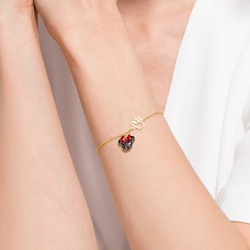 Bracelet Minnie, noir, métal doré - Swarovski, 5566690