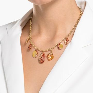 Collier The Elements, rouge, finition mix de métal - Swarovski, 5567365