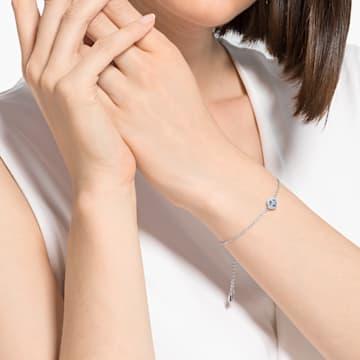 Angelic Cushion 手链, 蓝色, 镀铑 - Swarovski, 5567933