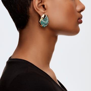 Boucles d'oreilles clip The Elements, vert, métal doré - Swarovski, 5568265
