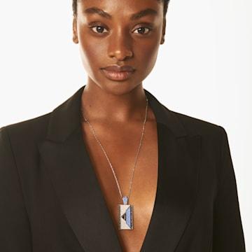 Karl Lagerfeld Geometric 项链, 蓝色, 镀钯 - Swarovski, 5568605