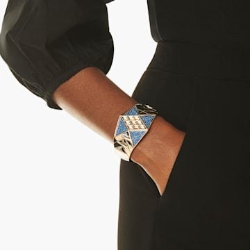 Karl Lagerfeld Statement Armreif, blau, palladiniert - Swarovski, 5568630