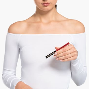 Crystalline Gloss 볼포인트 펜, 블랙 & 레드, 로즈골드 톤 플래팅 - Swarovski, 5568754