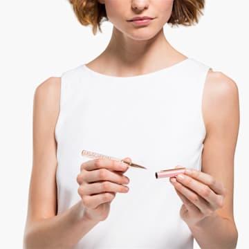 Crystalline Gloss 圓珠筆, 粉紅色, 鍍玫瑰金色調 - Swarovski, 5568756