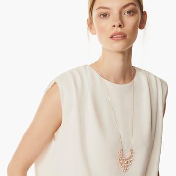 Theater 链坠, 白色, 镀玫瑰金色调 - Swarovski, 5569148