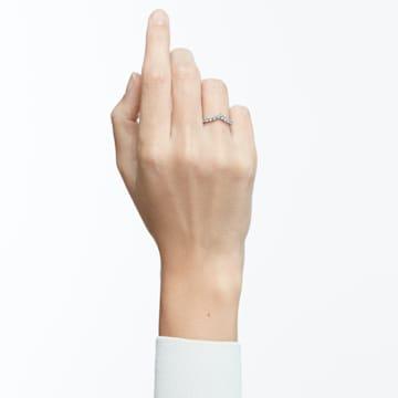 Vittore V-alakú gyűrű, fehér, ródium bevonattal - Swarovski, 5569171