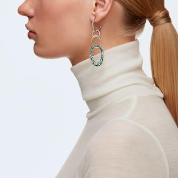 Brincos para orelhas furadas The Elements, verdes, acabamento em vários metais - Swarovski, 5569183