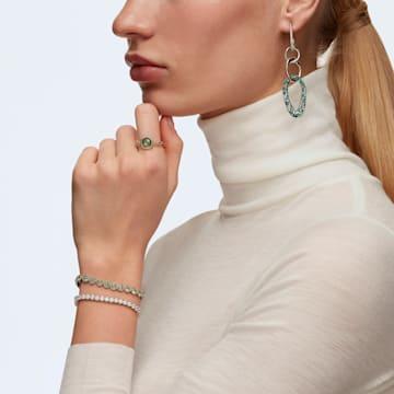 Kolczyki sztyftowe The Elements, zielone, różnobarwne metale - Swarovski, 5569183