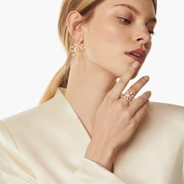 Theater 戒指, 白色, 镀玫瑰金色调 - Swarovski, 5569532