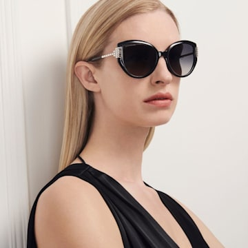 Gafas de sol Fluid Cat Eye, negro - Swarovski, 5569895