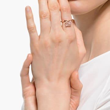 Anello Dazzling Swan, rosa, placcato color oro rosa - Swarovski, 5569924