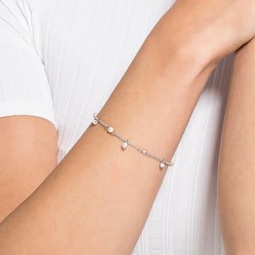 Strand Swarovski Remix Collection Delicate Pearl, blanc, métal rhodié - Swarovski, 5572078