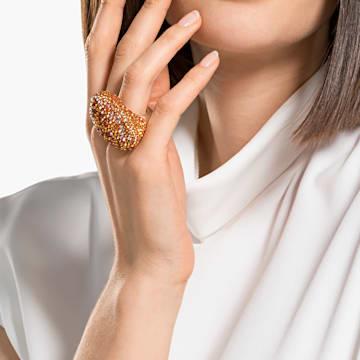 The Elements Ring, Orange, Gold-tone plated - Swarovski, 5572450