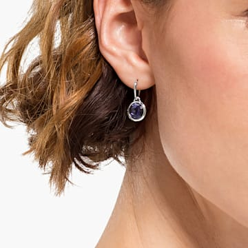Pendientes de aro Tahlia Mini, violeta, baño de rodio - Swarovski, 5572586