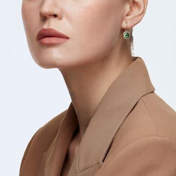 Tahlia Mini 穿孔耳环, 绿色, 镀金色调 - Swarovski, 5572587