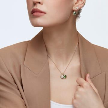 Tahlia Mini Kreolen, grün, vergoldet - Swarovski, 5572587
