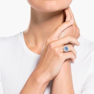 Prsten Angelic, modrý, rhodiovaný - Swarovski, 5572634