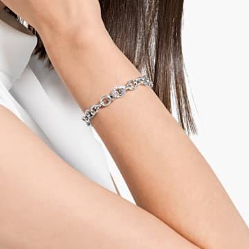 The Elements Chain Bracelet, White, Rhodium plated - Swarovski, 5572642