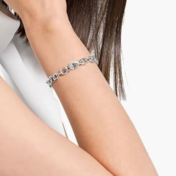 Bracelet The Elements Chain, blanc, métal rhodié - Swarovski, 5572655