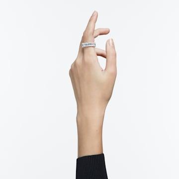 Anello Vittore Wide, bianco, placcato rodio - Swarovski, 5572686