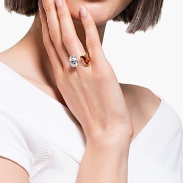 Δαχτυλίδι The Elements, κόκκινο, μικτό μεταλλικό φινίρισμα - Swarovski, 5572882