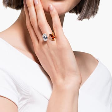 Bague The Elements, rouge, finition mix de métal - Swarovski, 5572882