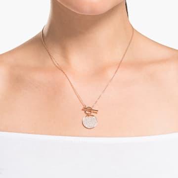 Ginger T Bar 套裝, 白色, 鍍玫瑰金色調 - Swarovski, 5574915