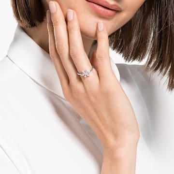 Magic Ring, White, Rhodium plated - Swarovski, 5578445