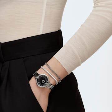 Crystalline Chic-horloge, Metalen armband, Zwart, Roestvrij staal - Swarovski, 5587527