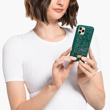 Glam Rock Smartphone case, iPhone® 12 mini, Green - Swarovski, 5592045