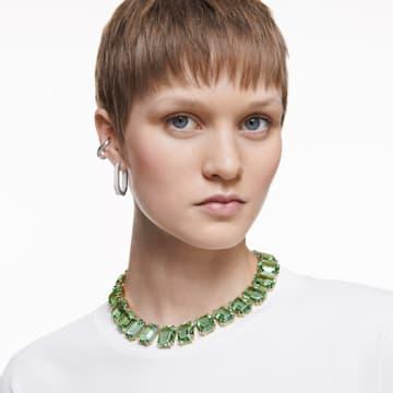 Millenia nyaklánc, Nyolcszög metszésű kristályok, Zöld, Aranytónusú bevonattal - Swarovski, 5598261