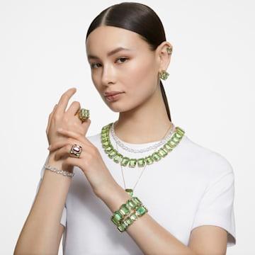 Millenia 项链, 八角形切割仿水晶, 绿色, 镀金色调 - Swarovski, 5598261