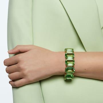 Braccialetto Millenia, Cristalli taglio ottagonale, Verde, Placcato color oro - Swarovski, 5598347