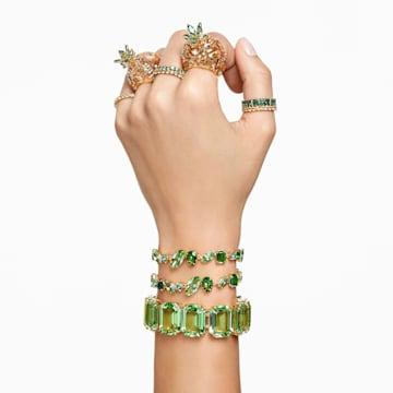 Millenia 手链, 八角形切割仿水晶, 绿色, 镀金色调 - Swarovski, 5598347