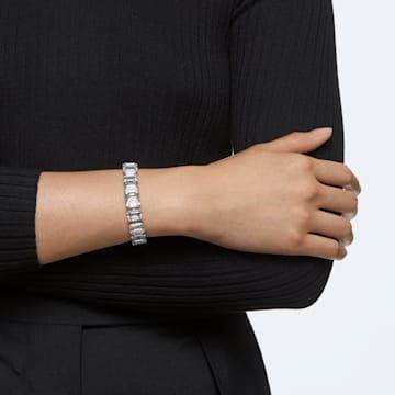 Millenia Armband, Kleine Kristalle im Octagon-Schliff, Weiss, Rhodiniert - Swarovski, 5598349
