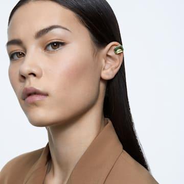 Millenia 클립 귀걸이, 싱글, 그린, 골드 톤 플래팅 - Swarovski, 5598358